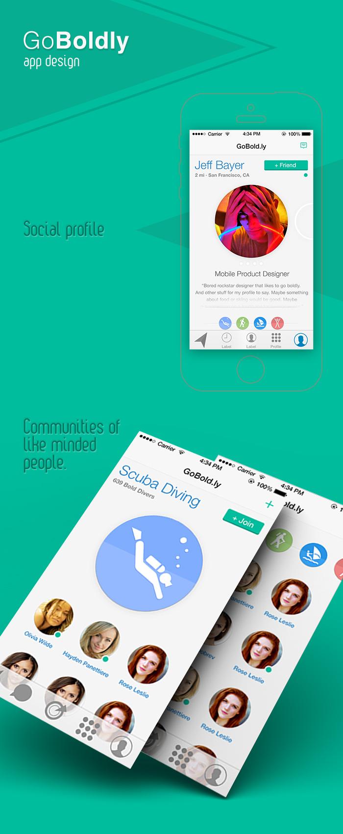 GoBoldly app design