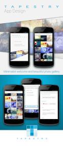 Tapestry photo sharing app design
