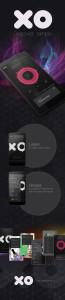 XO app design mockup music discovery