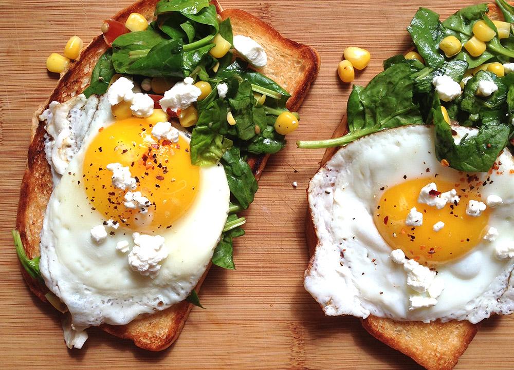 amazing open faced sandwich